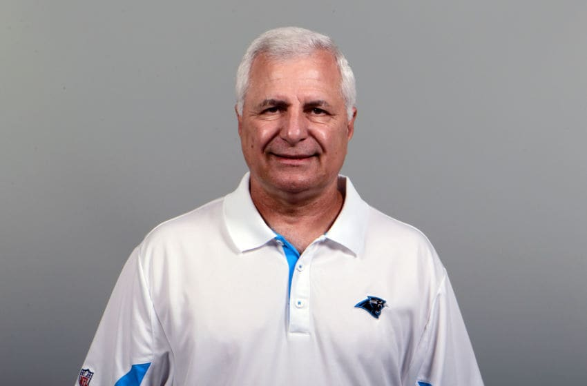 CHARLOTTE, NC - CIRCA 2011: In this handout image provided by the NFL, John Matsko of the Carolina Panthers poses for his NFL headshot circa 2011 in Charlotte, North Carolina. (Photo by NFL via Getty Images)