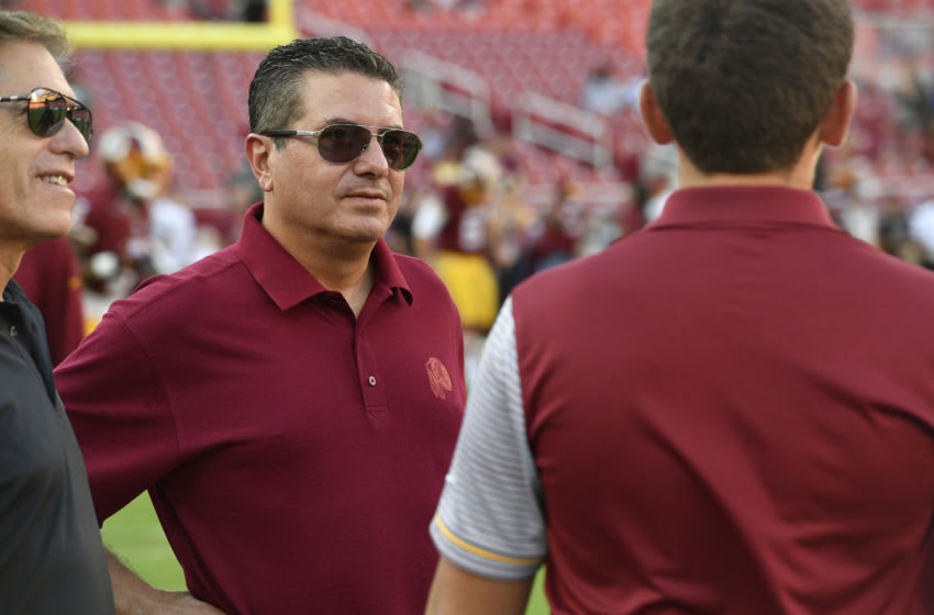 LANDOVER, MD - AUGUST 26: The Washington Redskins owner Daniel Snyder is seen before the game between the Washington Redskins and the Buffalo Bills at FedExField on August 26, 2016 in Landover, Maryland. The Redskins defeated the Jets 22-18. (Photo by Larry French/Getty Images)