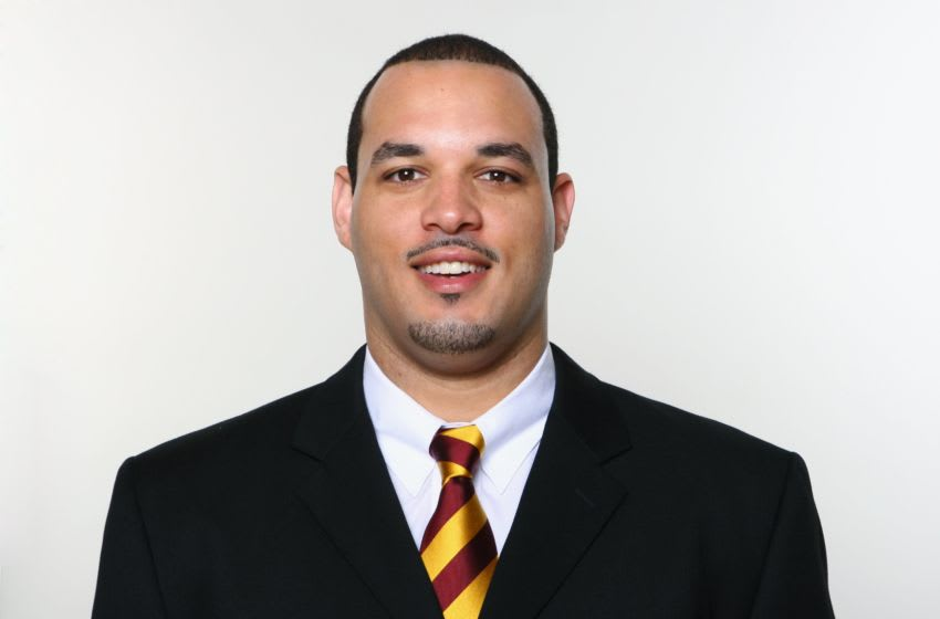 LANDOVER, MD - 2009: Morocco Brown of the Washington Redskins poses for his 2009 NFL headshot at photo day in Landover, Maryland. (Photo by NFL Photos)