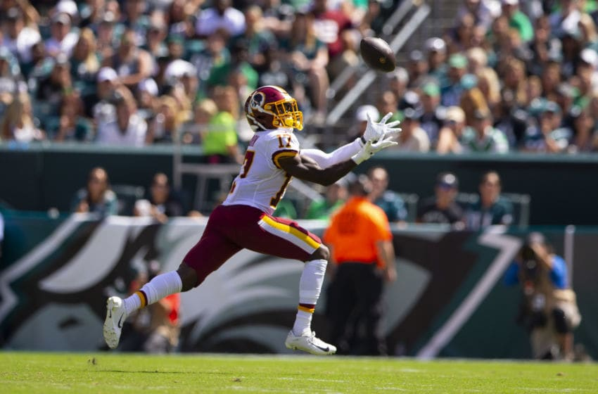 PHILADELPHIA, PA - SEPTEMBER 08: Terry McLaurin #17 of the Washington Redskins catches a touchdown pass in the second quarter against the Philadelphia Eagles at Lincoln Financial Field on September 8, 2019 in Philadelphia, Pennsylvania. (Photo by Mitchell Leff/Getty Images)