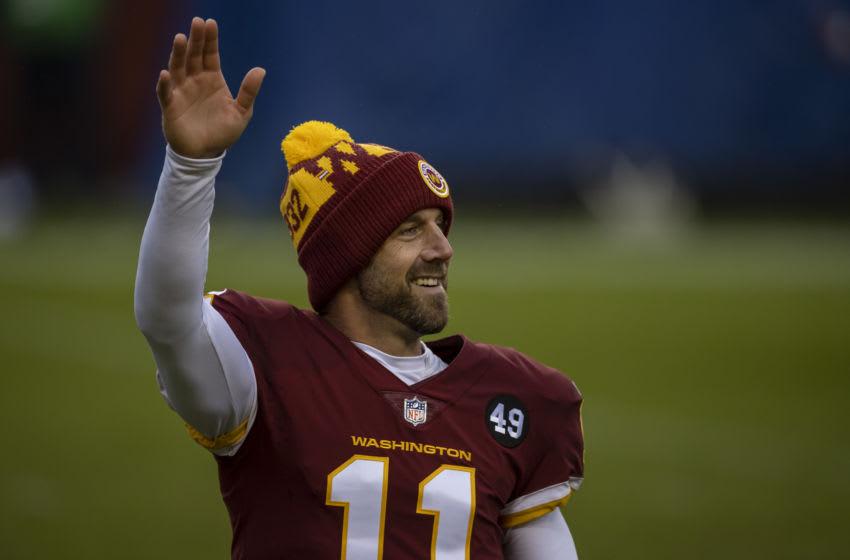 Washington Football Team QB Alex Smith. (Photo by Scott Taetsch/Getty Images)