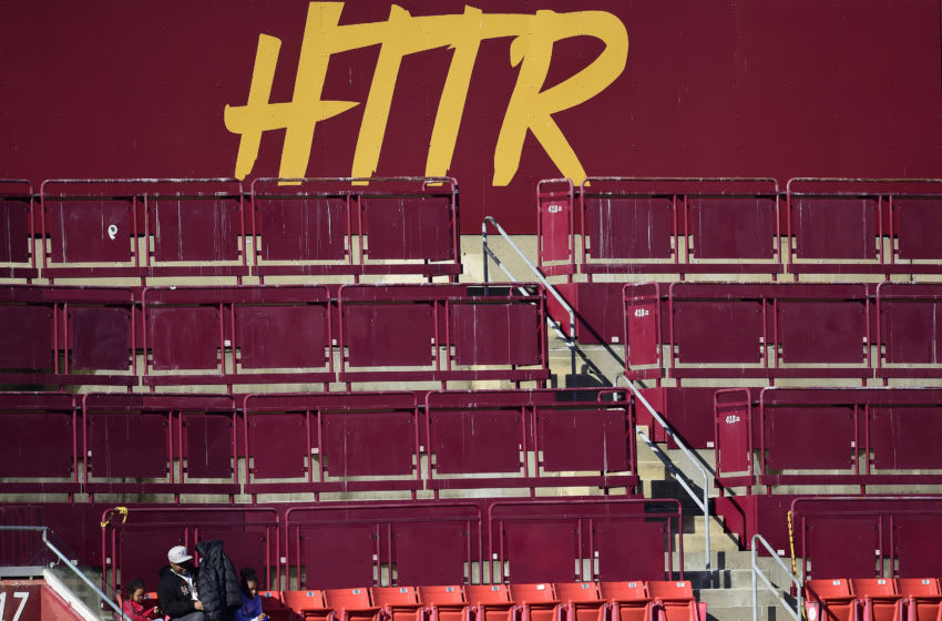 LANDOVER, MD - NOVEMBER 24: Fans sit in the stands during the first half of a game between the Detroit Lions and Washington Redskins at FedExField on November 24, 2019 in Landover, Maryland. (Photo by Patrick McDermott/Getty Images)