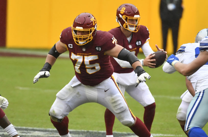 Washington Football Team OL Brandon Scherff. Mandatory Credit: Brad Mills-USA TODAY Sports