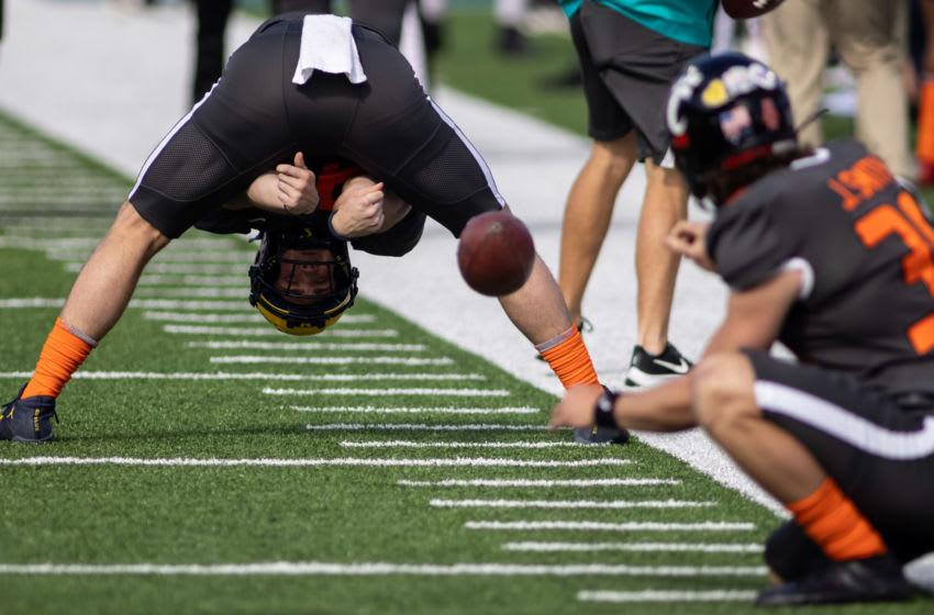 Washington Football Team LS Camaron Cheeseman. Mandatory Credit: Vasha Hunt-USA TODAY Sports
