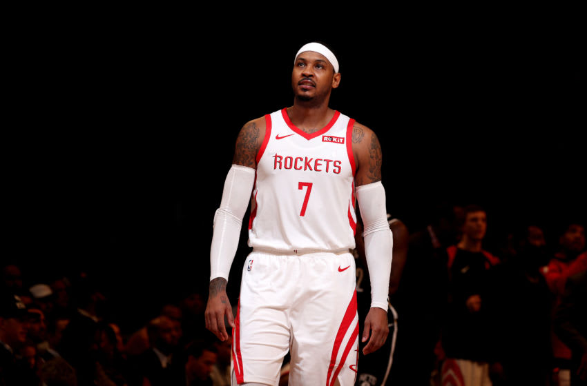 Carmelo Anthony Houston Rockets (Photo by Nathaniel S. Butler/NBAE via Getty Images)