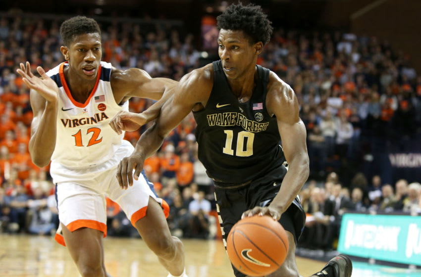 Jaylen Hoard Wake Forest Demon Deacons 2019 NBA Draft (Photo by Ryan M. Kelly/Getty Images)