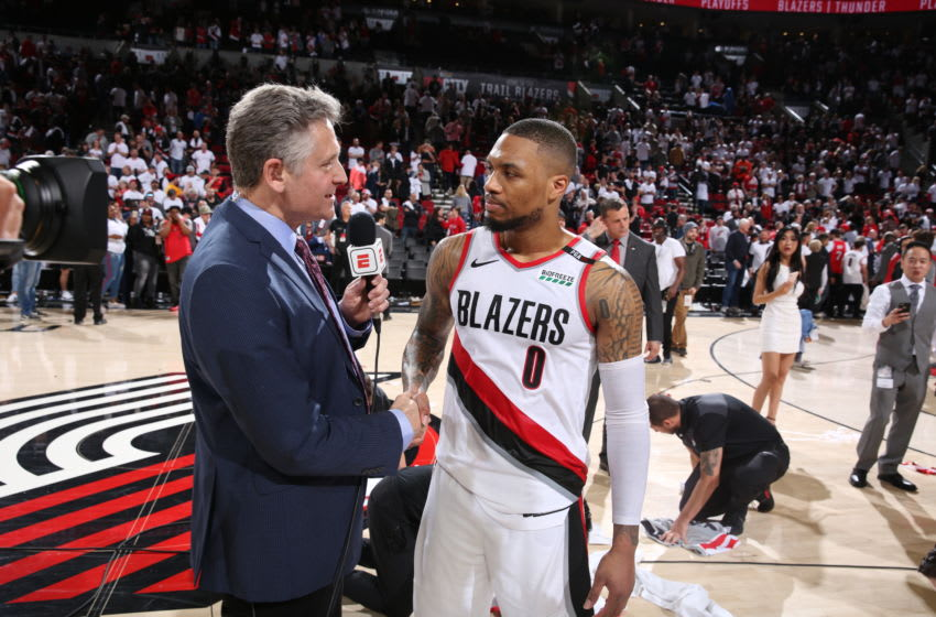Damian Lillard Portland Trail Blazers (Photo by Sam Forencich/NBAE via Getty Images)