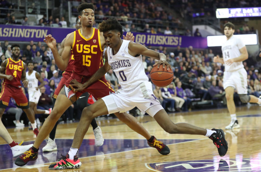 Jaden McDaniels #0 of the Washington Huskies (Photo by Abbie Parr/Getty Images)