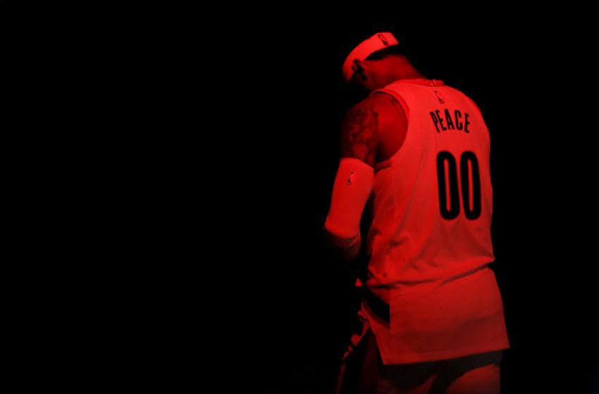 Carmelo Anthony, Portland Trail Blazers (Photo by Mike Ehrmann/Getty Images)