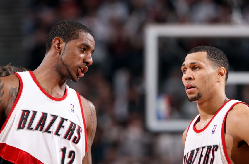 Portland Trail Blazers LaMarcus Aldridge Brandon Roy (Photo by Sam Forencich/NBAE via Getty Images)