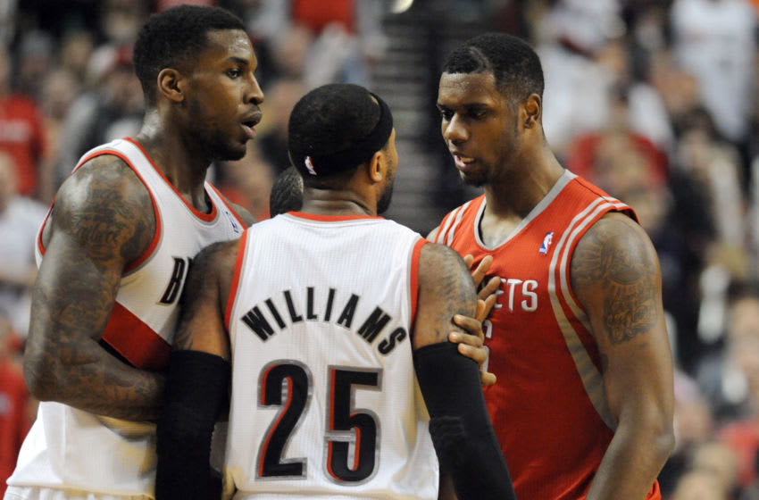 Mo Williams, Thomas Robinson, Portland Trail Blazers (Photo by Steve Dykes/Getty Images)