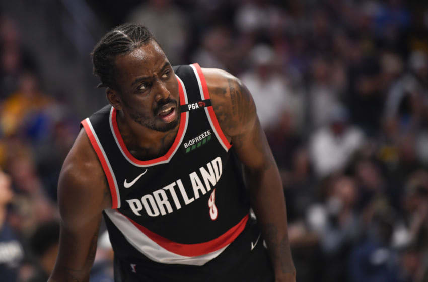 AAron Ontiveroz/MediaNews Group/The Denver Post via Getty ImagesDENVER, CO - MAY 7: Al-Farouq Aminu (8) of the Portland Trail Blazers after being called for a foul during the third quarter on Tuesday, May 7, 2019. The Denver Nuggets versus the Portland Trail Blazers in game five of the teams' second round NBA playoff series at the Pepsi Center in Denver. (Photo by AAron Ontiveroz/The Denver Post)