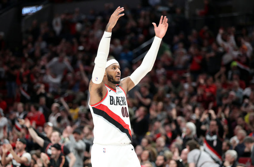 Carmelo Anthony, Portland Trail Blazers. (Photo by Abbie Parr/Getty Images)