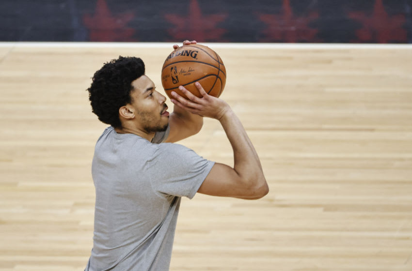 Mar 11, 2021; Chicago, Illinois, USA; Chicago Bulls forward Otto Porter Jr. (22) warms up before a game against the Philadelphia 76ers at United Center. Mandatory Credit: Kamil Krzaczynski-USA TODAY Sports