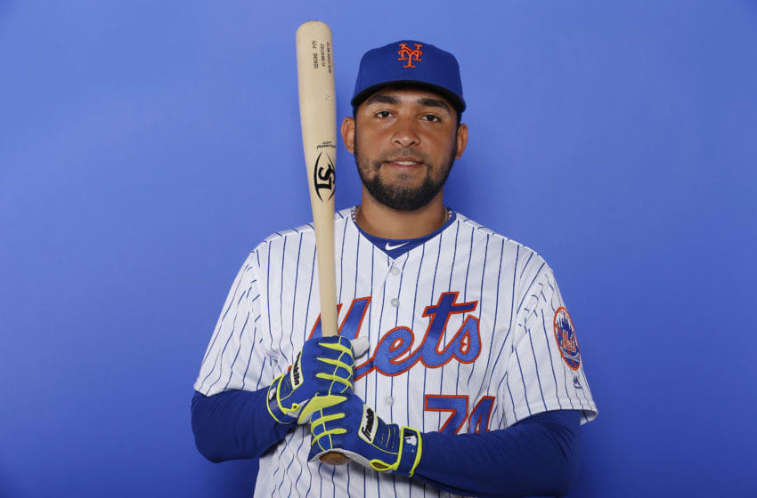 PORT ST. LUCIE, FLORIDA - FEBRUARY 21: Ali Sanchez #74 of the New York Mets poses for a photo on Photo Day at First Data Field on February 21, 2019 in Port St. Lucie, Florida. (Photo by Michael Reaves/Getty Images)
