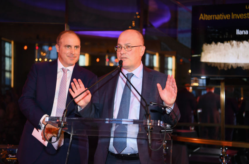 NEW YORK, NEW YORK - APRIL 10: Point72 Asset Management and Gala Chair Steven A. Cohen speaks on stage the Lincoln Center Alternative Investment Gala at The Rainbow Room on April 10, 2019 in New York City. (Photo by Dave Kotinsky/Getty Images for Lincoln Center)