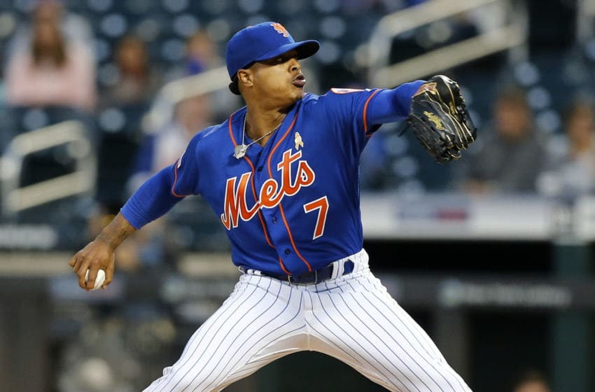 NEW YORK, NEW YORK - SEPTEMBER 07: Marcus Stroman #7 of the New York Mets in action against the Philadelphia Phillies at Citi Field on September 07, 2019 in New York City. The Phillies defeated the Mets 5-0. (Photo by Jim McIsaac/Getty Images)