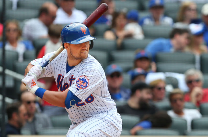 NEW YORK, NY - SEPTEMBER 08: J.D. Davis #28 of the New York Mets in action against the Philadelphia Phillies during a game at Citi Field on September 8, 2019 in New York City. (Photo by Rich Schultz/Getty Images)