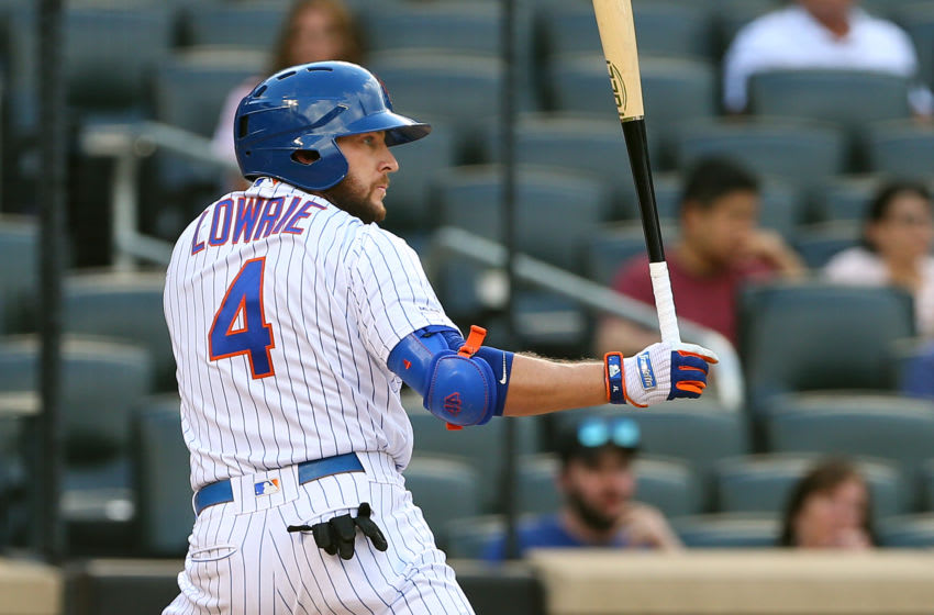 NEW YORK, NY - SEPTEMBER 08: Jed Lowrie #4 of the New York Mets in action against the Philadelphia Phillies during a game at Citi Field on September 8, 2019 in New York City. (Photo by Rich Schultz/Getty Images)