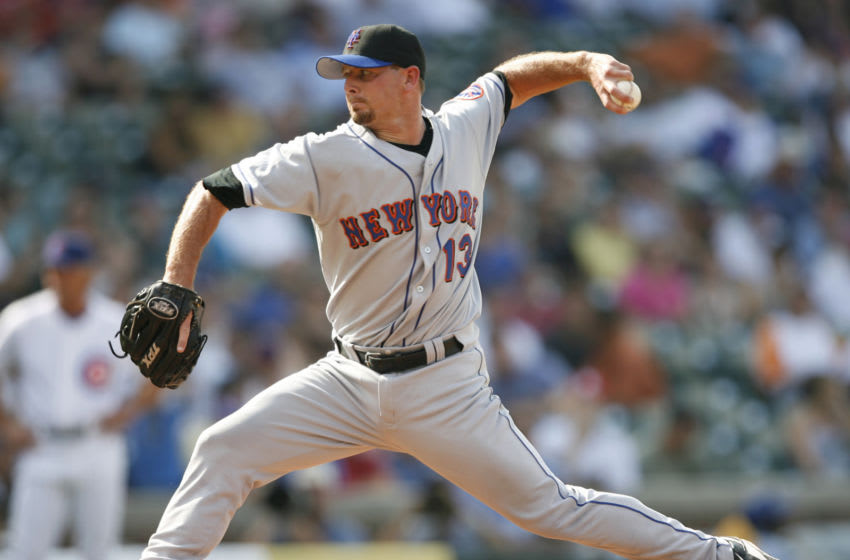 New York Met pitcher, Billy Wagner on the mound at Wrigley Field in Chicago, Illinois on July 14, 2006. The New York Mets over the Chicago Cubs by a score of 6 to 3. (Photo by Warren Wimmer/Getty Images)