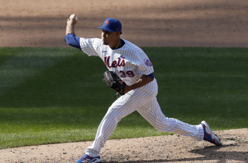 NEW YORK, NEW YORK - SEPTEMBER 07: Edwin Diaz #39 of the New York Mets in action against the Philadelphia Phillies at Citi Field on September 07, 2020 in New York City. The Phillies defeated the Mets 9-8 in ten innings. (Photo by Jim McIsaac/Getty Images)
