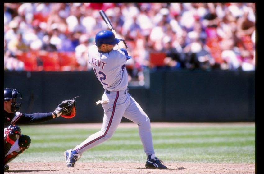29 Apr 1993: Infielder Jeff Kent of the New York Mets in action during a game against the San Francisco Giants at Candlestick Park in San Francisco, California. Mandatory Credit: Otto Greule /Allsport
