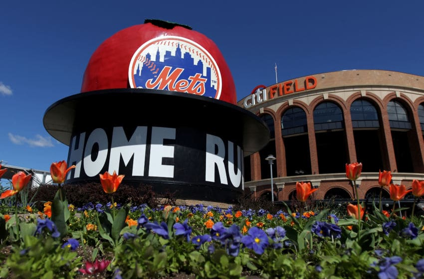 NEW YORK, NY - APRIL 05: A general exterior view of the Mets' Home Run Big Apple outside the stadium prior to the New York Mets hosting the Atlanta Braves during their Opening Day Game at Citi Field on April 5, 2012 in New York City. (Photo by Nick Laham/Getty Images)