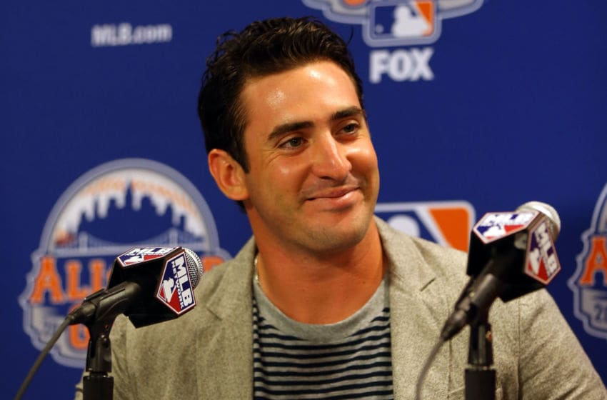NEW YORK, NY - JULY 15: National League All-Star Starter, Matt Harvey #33 of the New York Mets speaks to the media during a press conference prior to Gatorade All-Star Workout Day on July 15, 2013 at Citi Field in the Flushing neighborhood of the Queens borough of New York City. (Photo by Mike Ehrmann/Getty Images)