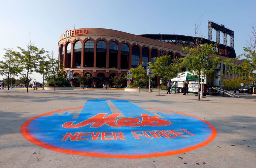 NEW YORK, NY - SEPTEMBER 11: A drawing of the twin towers is seen on the sidewalk outside of Citi Field prior to a game between the New York Mets and the Washington Nationals on September 11, 2013 in the Flushing neighborhood of the Queens borough of New York City. (Photo by Jim McIsaac/Getty Images)