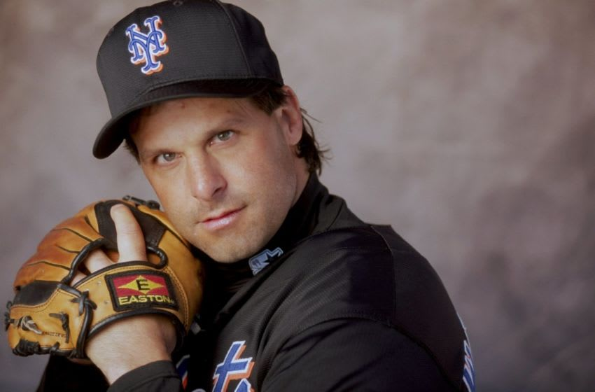 4 Mar 1999: Pitcher Turk Wendell #99 of the New York Mets poses for a studio portrait on Photo Day during Spring Training at the Thomas J. White Stadium in Port St. Lucie, Florida. Mandatory Credit: Matthew Stockman /Allsport