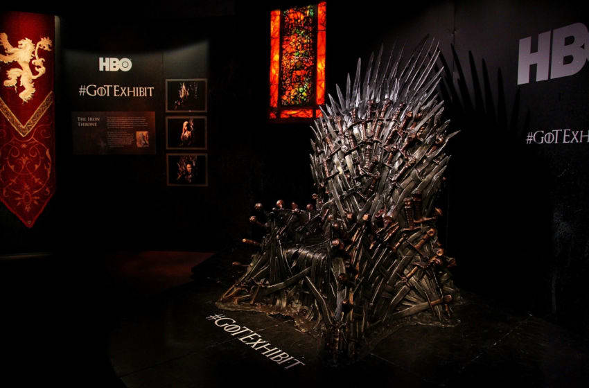 SYDNEY, AUSTRALIA - JUNE 30: A view of the 'Iron Throne' is seen at the launch of the Game Of Thrones Exhibition at the Museum of Contemporary Art on June 30, 2014 in Sydney, Australia. (Photo by Lisa Maree Williams/Getty Images)
