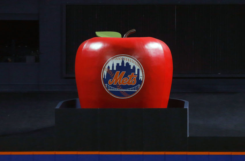NEW YORK, NY - OCTOBER 12: (NEW YORK DAILIES OUT) The home run apple is seen before game three of the National League Division Series between the New York Mets and the Los Angeles Dodgers at Citi Field on October 12, 2015 in the Flushing neighborhood of the Queens borough of New York City. The Mets defeated the Dodgers 13-7. (Photo by Jim McIsaac/Getty Images)