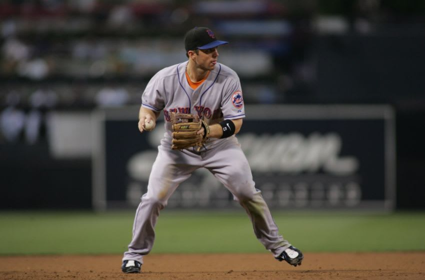 SAN DIEGO - JULY 18: David Wright of the New York Mets fields a ground ball during the game against the San Diego Padres at Petco Park in San Diego, California on July 18, 2007. The Padres defeated the Mets 5-4. (Photo by Rob Leiter/MLB Photos via Getty Images)