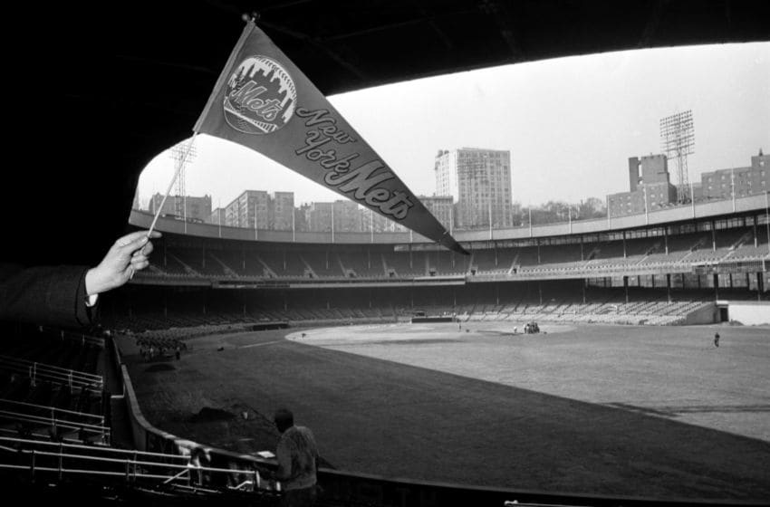 NEW YORK, NY - MARCH 29, 1962: A general view of the stadium as workers prepare the Polo Grounds on March 29, 1962 for the Opening Day game for the New York Mets in New York, New York. (Photo by: Kidwiler Collection/Diamond Images/Getty Images)