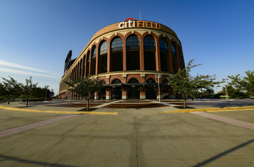 NEW YORK, NEW YORK - SEPTEMBER 08: The walkway outside Citi Field is empty prior to a game between the New York Mets and the Baltimore Orioles as the ongoing coronavirus, causes MLB games to be played without fans, on September 08, 2020 in New York City. (Photo by Steven Ryan/Getty Images)