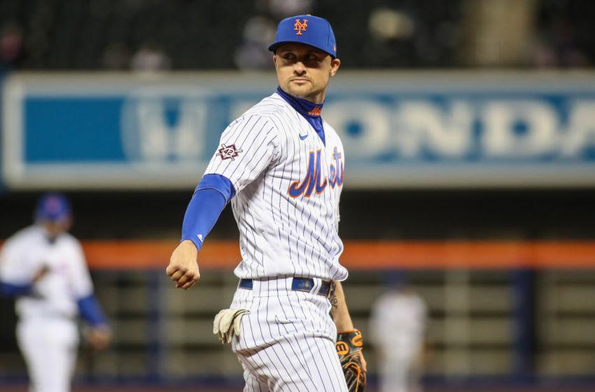 Apr 23, 2021; New York City, New York, USA; New York Mets third baseman J.D. Davis at Citi Field. Mandatory Credit: Wendell Cruz-USA TODAY Sports