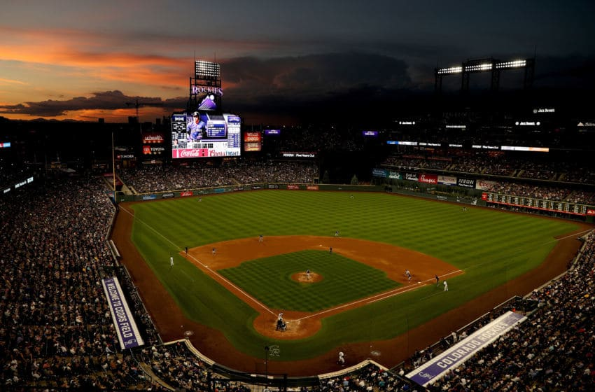 DENVER, COLORADO - JUNE 15: The Colorado Rockies play the San Diego Padres at Coors Field on June 15, 2019 in Denver, Colorado. (Photo by Matthew Stockman/Getty Images)