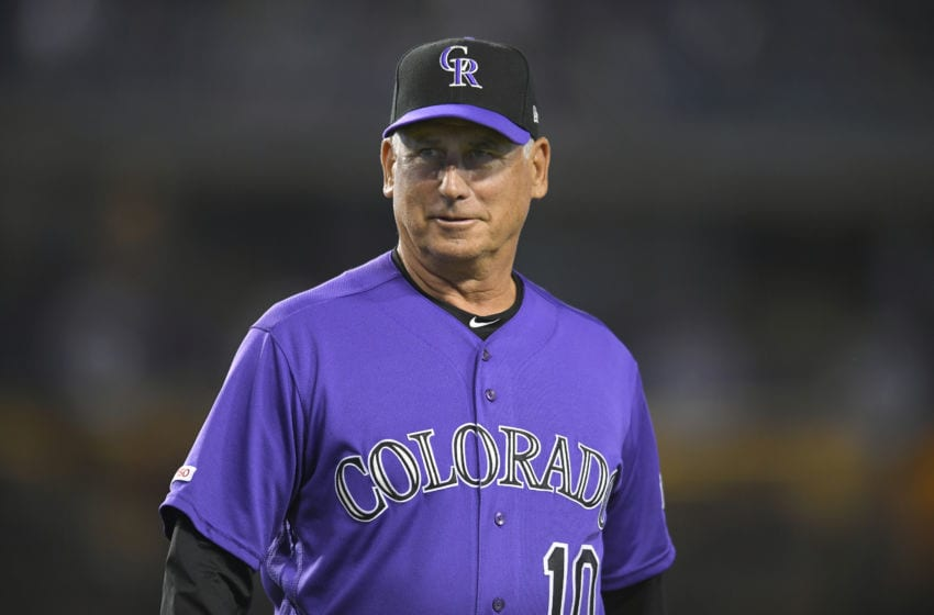 LOS ANGELES, CA - SEPTEMBER 20: Manger Bud Black of the Colorado Rockies of the Colorado Rockies before playing the Los Angeles Dodgers at Dodger Stadium on September 20, 2019 in Los Angeles, California. The Dodgers won 12-5. (Photo by John McCoy/Getty Images)