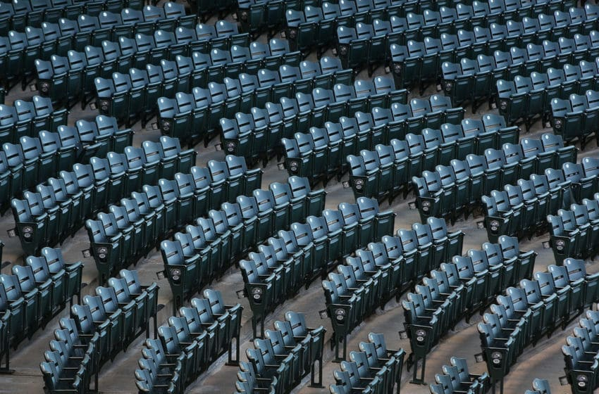 DENVER, CO - MAY 09: Ballpark seats await the fans to watch the Arizona Diamondbacks face the Colorado Rockies at Coors Field on May 09, 2016 in Denver, Colorado. The Diamondbacks defeated the Rockies 10-5. (Photo by Doug Pensinger/Getty Images)