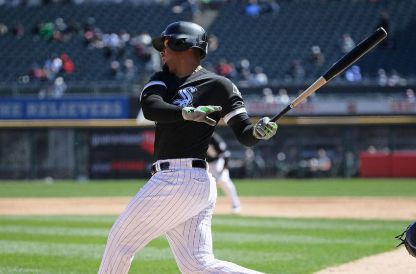 CHICAGO, IL - APRIL 25: Jose Abreu #79 of the Chicago White Sox bats against the Seattle Mariners at Guaranteed Rate Field on April 25, 2018 in Chicago, Illinois. The Mariners defeated the Whtie Sox 4-3. (Photo by Jonathan Daniel/Getty Images)