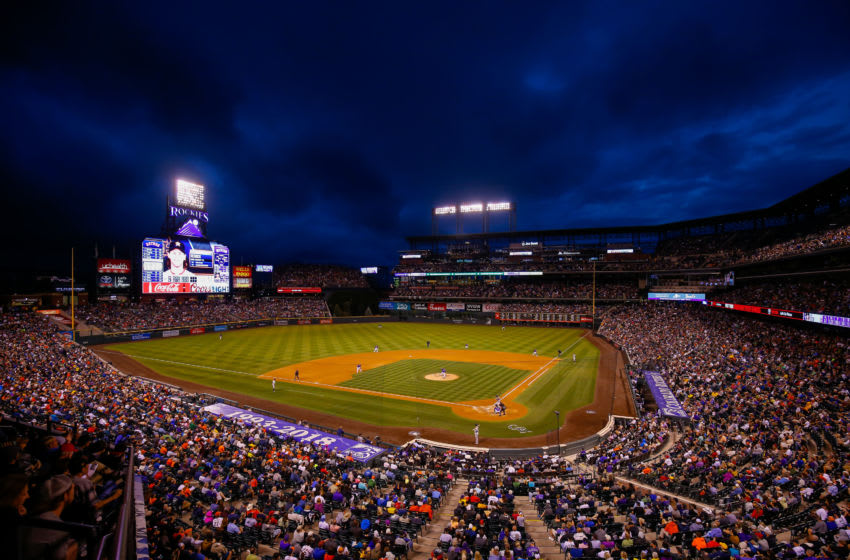 DENVER, CO - JULY 25: A general view of the stadium as the Colorado Rockies take on the Houston Astros during interleague play at Coors Field on July 25, 2018 in Denver, Colorado. The Rockies defeated the Astros 3-2. (Photo by Justin Edmonds/Getty Images)