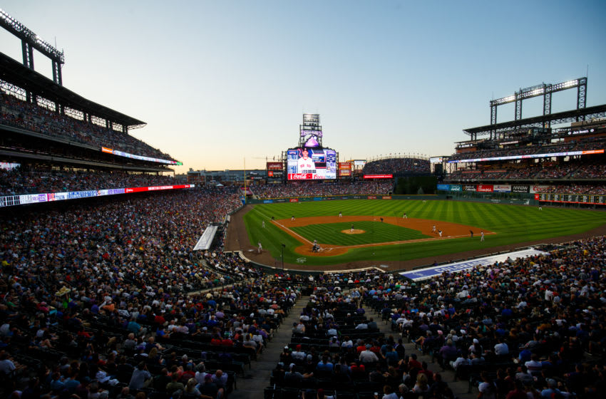 DENVER, CO - AUGUST 27: A general view of the stadium as the Boston Red Sox face the Colorado Rockies at Coors Field on August 27, 2019 in Denver, Colorado. (Photo by Justin Edmonds/Getty Images)