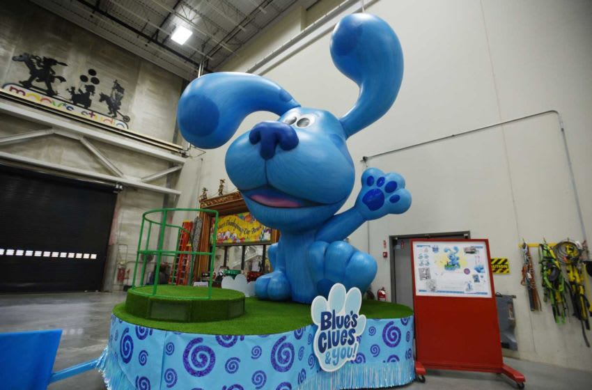 Photo of the five new floating wonders, Blue's Clues & You! by Nickelodeon, which will debut during the 93rd Annual Macy's Thanksgiving Day Parade, is seen at Macys Parade Studio in Moonachie on 11/19/19. Thanksgiving Floats