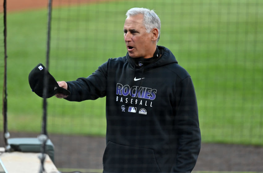 Sep 12, 2020; Denver, Colorado, USA; Colorado Rockies manager Bud Black before the game against the Los Angeles Angels at Coors Field. Mandatory Credit: Ron Chenoy-USA TODAY Sports