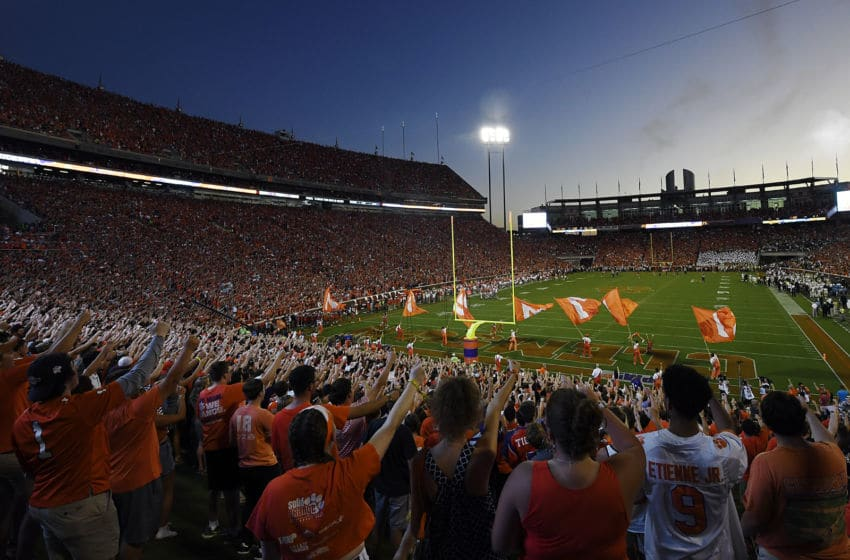 CLEMSON, SOUTH CAROLINA - AUGUST 29: A general view of Memorial Stadium prior to the start of the Clemson Tigers' football game against the Georgia Tech Yellow Jackets on August 29, 2019 in Clemson, South Carolina. (Photo by Mike Comer/Getty Images)