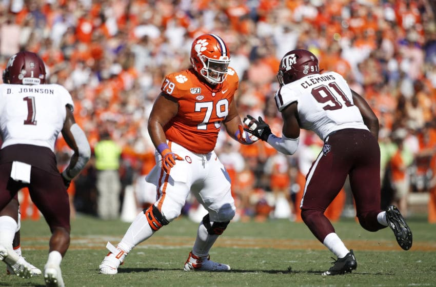 Jackson Carman Clemson Tigers (Photo by Joe Robbins/Getty Images)