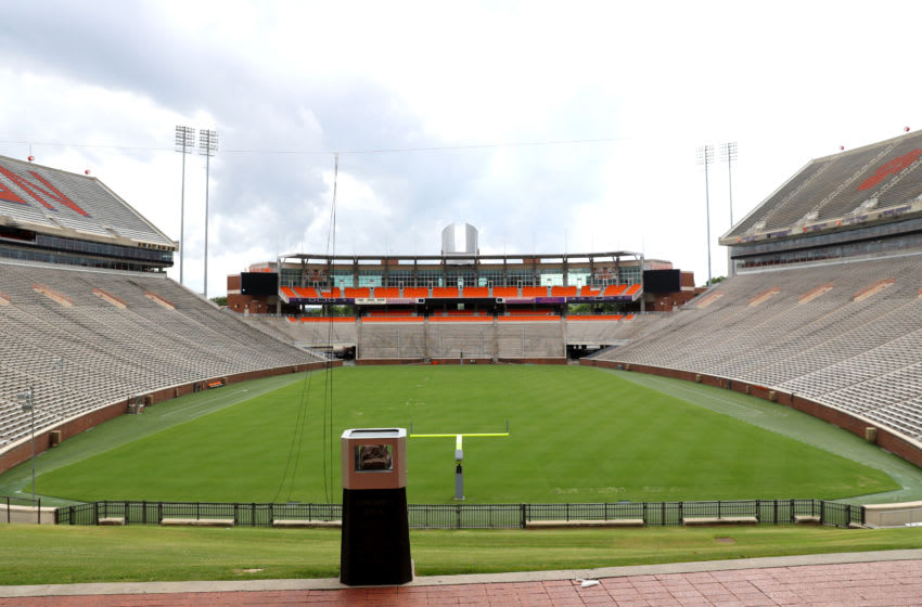 CLEMSON, SOUTH CAROLINA - JUNE 10: A view of Clemson Memorial Stadium on the campus of Clemson University on June 10, 2020 in Clemson, South Carolina. The campus remains open in a limited capacity due to the Coronavirus (COVID-19) pandemic. (Photo by Maddie Meyer/Getty Images)