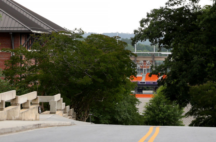 CLEMSON, SOUTH CAROLINA - JUNE 10: A view outside of Clemson Memorial Stadium on the campus of Clemson University on June 10, 2020 in Clemson, South Carolina. The campus remains open in a limited capacity due to the Coronavirus (COVID-19) pandemic. (Photo by Maddie Meyer/Getty Images)