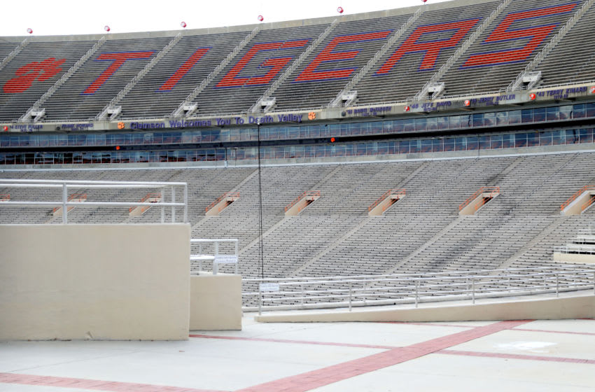 empty stands inside of Clemson Memorial Stadium on the campus of Clemson University on June 10, 2020 in Clemson, South Carolina. The campus remains open in a limited capacity due to the Coronavirus (COVID-19) pandemic. (Photo by Maddie Meyer/Getty Images)