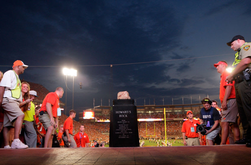 CLEMSON, SC - AUGUST 31: A general view of Howard's Rock prior to the game between the Clemson Tigers and Georgia Bulldogs at Memorial Stadium on August 31, 2013 in Clemson, South Carolina. (Photo by Tyler Smith/Getty Images)